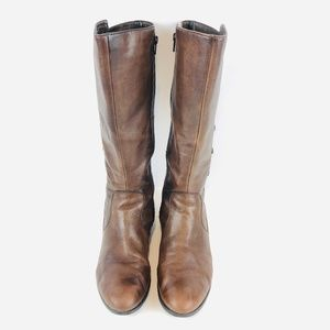 Born Brown Leather Riding Boot 9.5